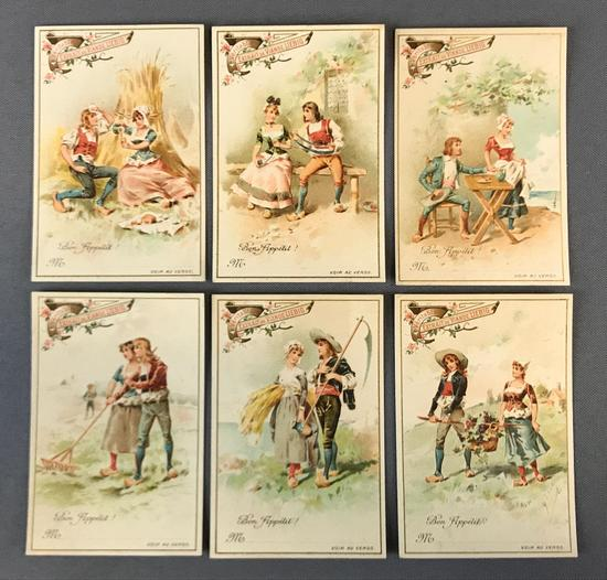 Group of 6 Liebig Bon Appetit Trade Cards
