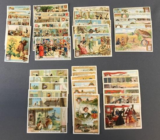 Group of 7 Sets of Liebig Trade Cards