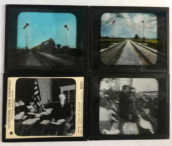 Group of 4 glass slides