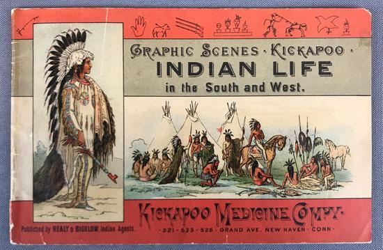 Antique Kickapoo Medicine Company Graphic Scenes Booklet