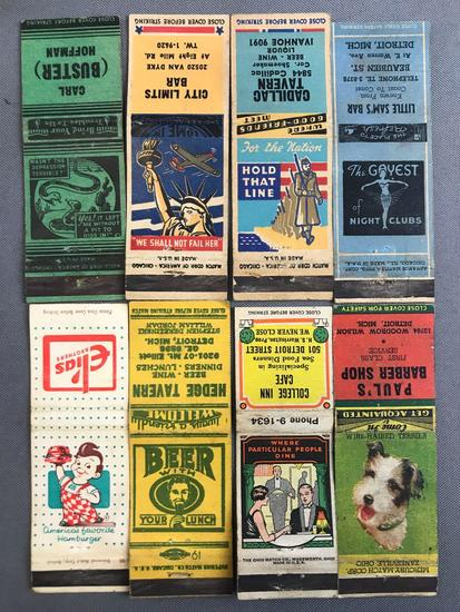 Group of 100+ vintage matchbook covers