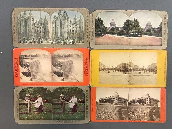 Group of 36 Vintage Stereoscope Cards