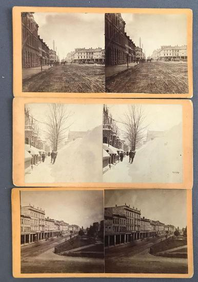 Group of 3 vintage Stereoscope Cards