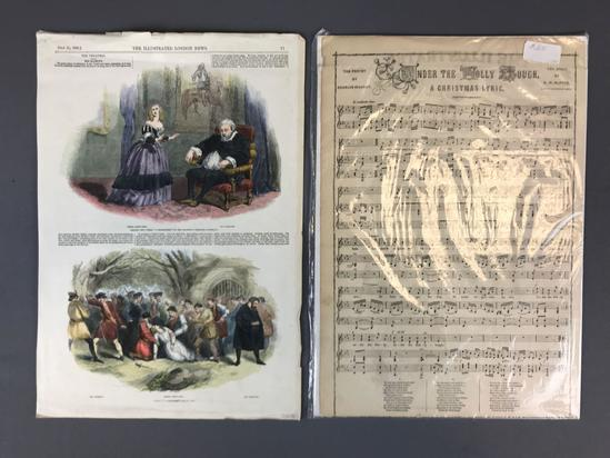 Antique Hand Colored Illustrated London News Jenny Lind Scenes