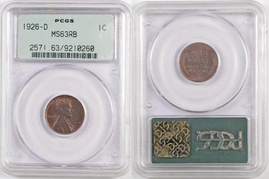 1926 D Lincoln Wheat Cent (PCGS) MS63RB.