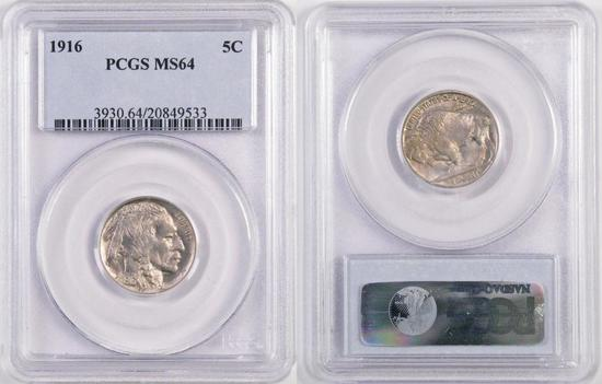 1916 Buffalo Nickel (PCGS) MS64.