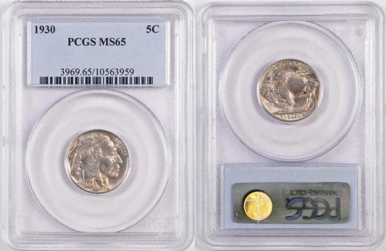1930 Buffalo Nickel (PCGS) MS65.
