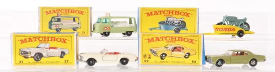 Group of 4 Matchbox Die-Cast Vehicles with Original Boxes