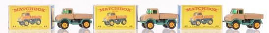 Group of 3 Matchbox No. 49 Unimog Die-Cast Vehicles with Original Boxes