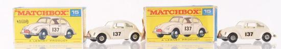 Group of 2 Matchbox No. 15 Volkswagen Die-Cast Vehicles with Origianl Boxes