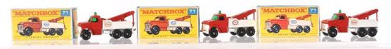 Group of 3 Matchbox No. 71 Wreck Truck Die-Cast Vehicles with Original Boxes