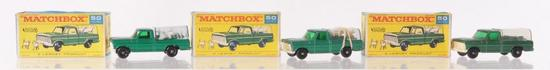 Group of 3 Matchbox No. 50 Kennel Truck Die-Cast Vehicles with Original Boxes