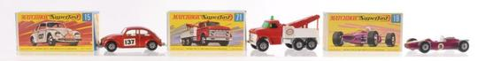 Group of 3 Matchbox Superfast Die-Cast Vehicles with Original Boxes