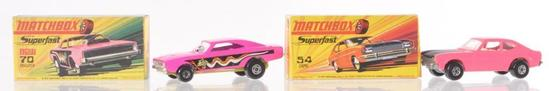 Group of 2 Matchbox Superfast Die-Cast Vehicles with Original Boxes