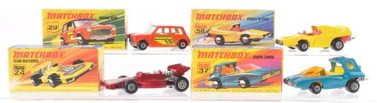 Group of 4 Matchbox Superfast Die-Cast Vehicle with Original Boxes