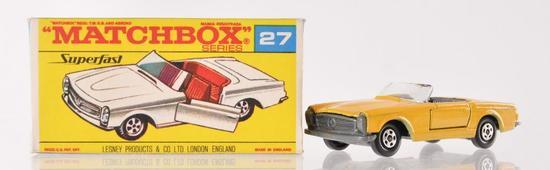 Matchbox Superfast No. 27 Mercedes Benz 230 SL Die-Cast Vehicle with Original Box