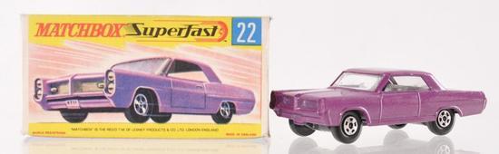 Matchbox Superfast No. 22 Pontiac Coupe Die-Cast Vehicle with Original Box
