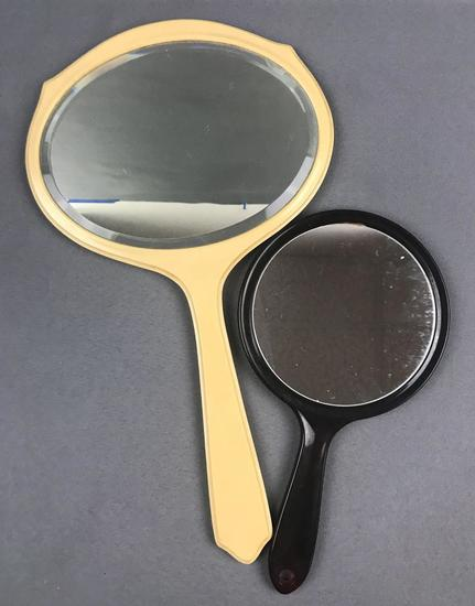 Group of 2 vintage hand mirrors