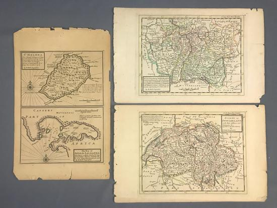 Group of 3 H. Moll maps