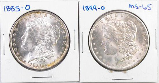 Group of (2) Uncirculated Morgan Silver Dollars.