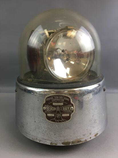 Antique Beacon Ray Firetruck Light and Siren