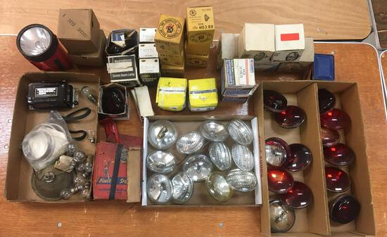 Large Group Of Vintage Firetruck Beam Lamps and more