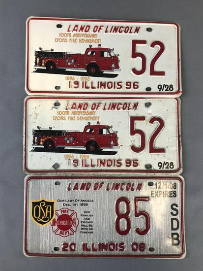 Group of 3 specialty license plates