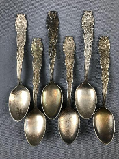 Group of 6 Antique Avery Company Silverplate Spoons