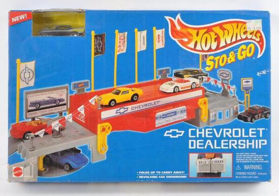 Hot Wheels Sto and Go Chevrolet Dealership in Original Box
