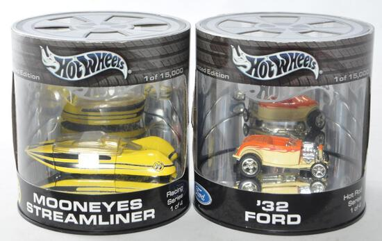 Group of 2 Hot Wheels Limited Edition Die-Cast Vehicles in Original Packaging