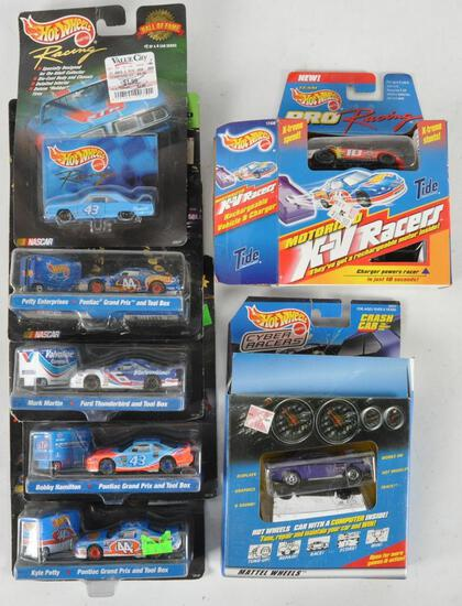 Group of 7 hot Wheels Die-Cast Vehicles in Original Packaging