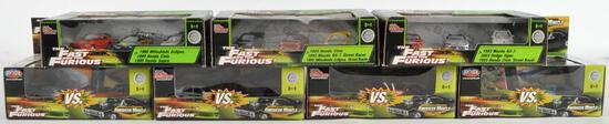 Group of 7 The Fast and The Furious Die-Cast Vehicle Gift Sets