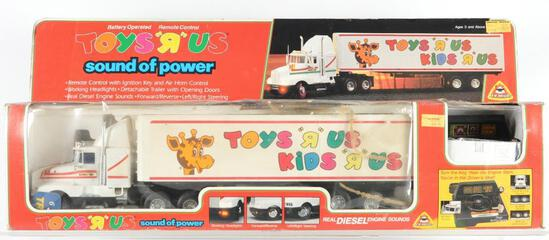 "Toys ""R"" Us Exclusive Sound and Power Remote Controlled Semi Truck in Original Packaging"