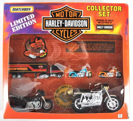 Matchbox Limited Edition Harley Davidson Motorcycle Collector Set