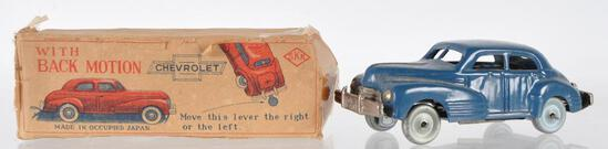 SKK Chevrolet Wind Up Tin Car with Original Box