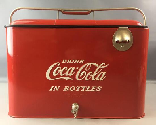 Vintage Coca-Cola Progress A-4 Metal Cooler