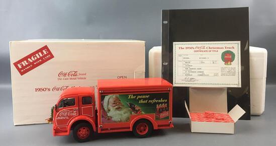 Danbury Mint 1950s Coca-Cola Die-cast Christmas Truck