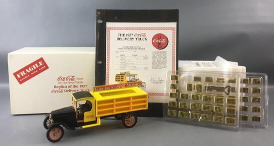 Danbury Mint 1927 Ford TT Open Cab Coca-Cola Die-cast Delivery Truck