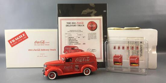 Danbury Mint 1941 Coca-Cola Die-cast Delivery Panel Truck
