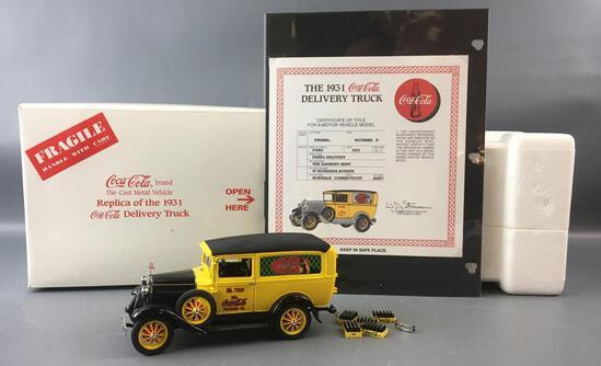 Danbury Mint 1931 Coca-Cola Die-cast Panel Delivery Truck