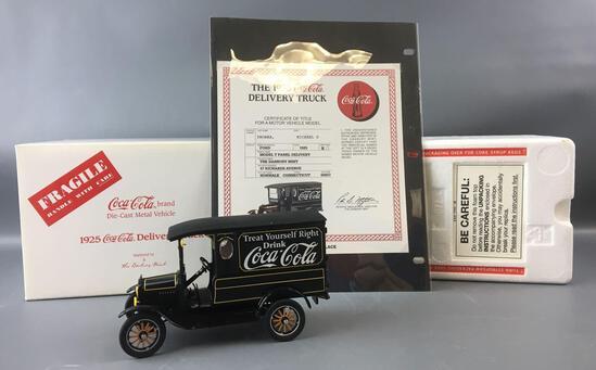 Danbury Mint 1925 Model T Coca-Cola Die-cast Delivery Truck