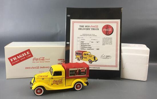 Danbury Mint 1935 Coca-Cola Die-cast 50-830 Half-Ton Delivery Truck