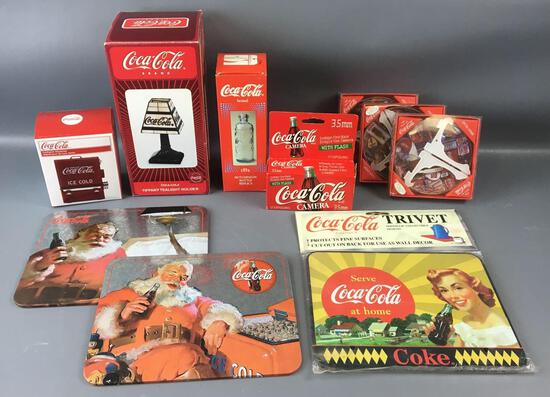Group of 10 Coca-Cola Miscellaneous Items