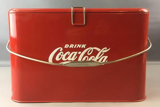 Vintage Coca-Cola Progress Model A-2 Advertising Metal Cooler