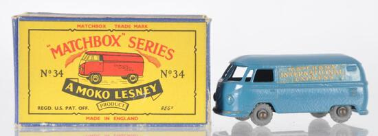 Matchbox No. 34 Volkswagen Microvan Die-Cast Vehicle with Original Box