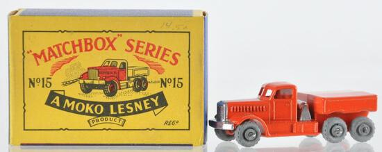 Matchbox No. 15 Prime Mover Die-Cast Vehicle with Original Box