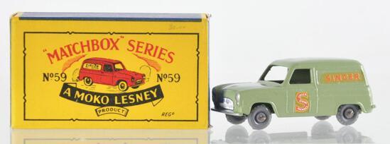 "Matchbox No. 59 Ford ""Singer"" Van Die-Cast Vehicle with Original Box"