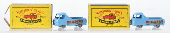 Group of 2 Matchbox No. 60 Morris Omnitruck Die-Cast Vehicles with Original Boxes