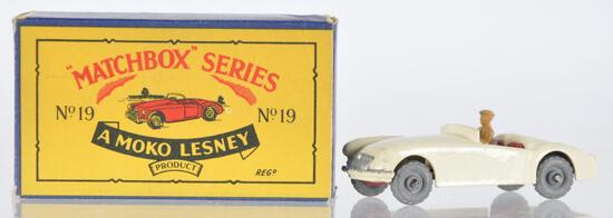 Matchbox No. 19 M.G. Die-Cast Vehicle with Original Box
