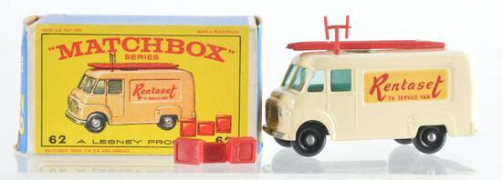Matchbox No. 62 TV Service Van Die-Cast Vehicle with Original Box